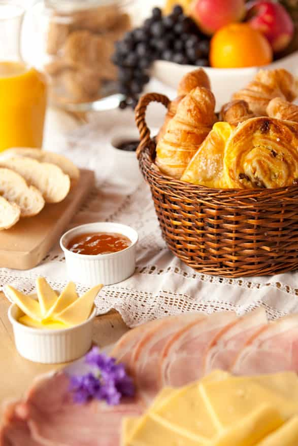 croissants and other breakfast elements