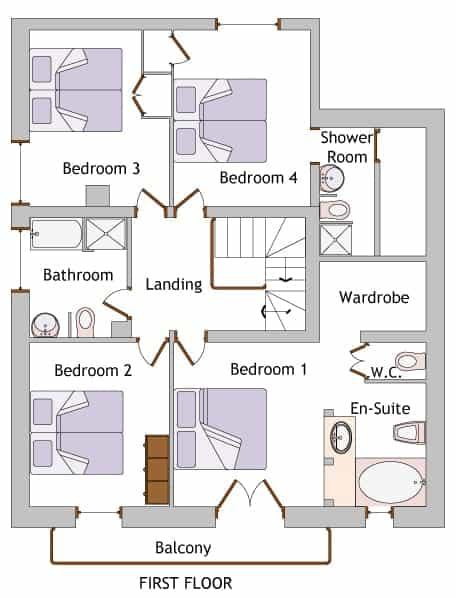 a mountain chalet floor plan