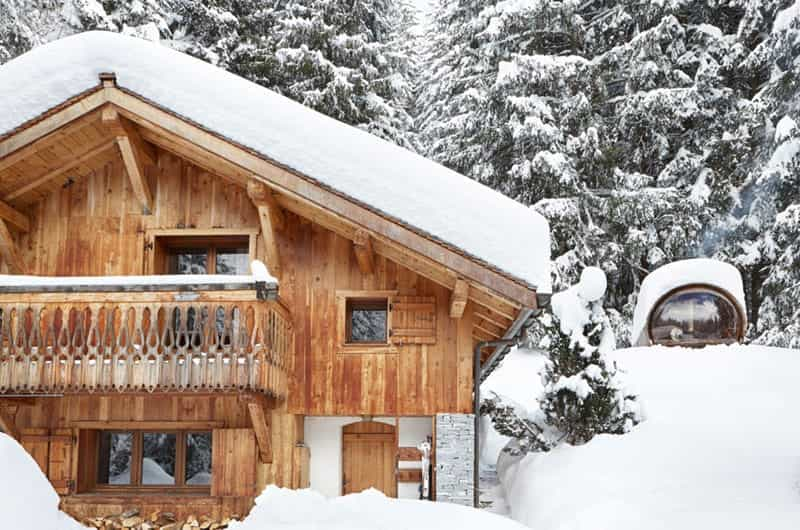 a great chalet under the snow
