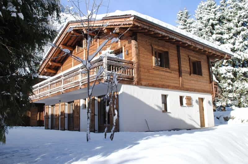 a stunning chalet full of snow