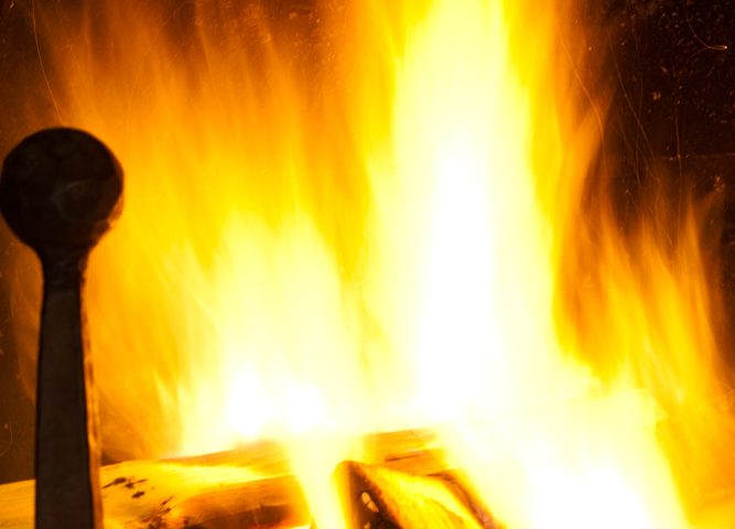 Image of Fire Place in Luxury Ski Chalet