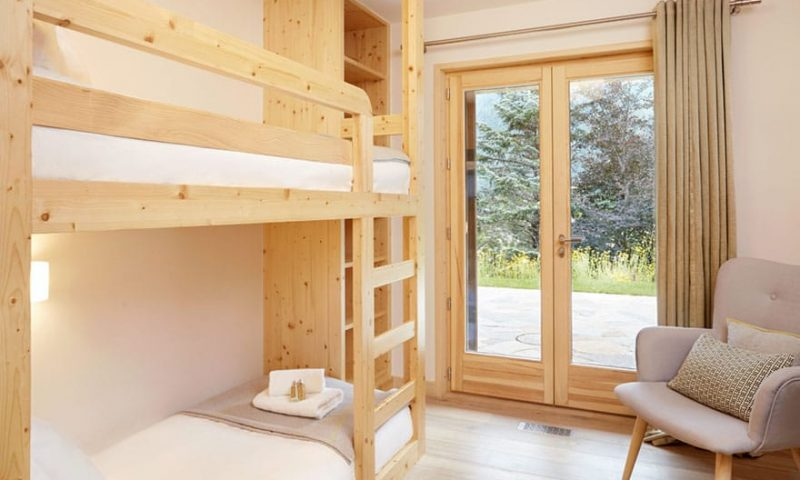 image of a chalet bunk bed bedroom