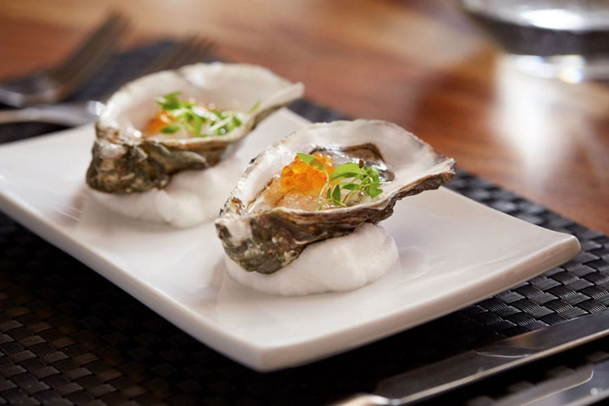 image of an oyster with caviar