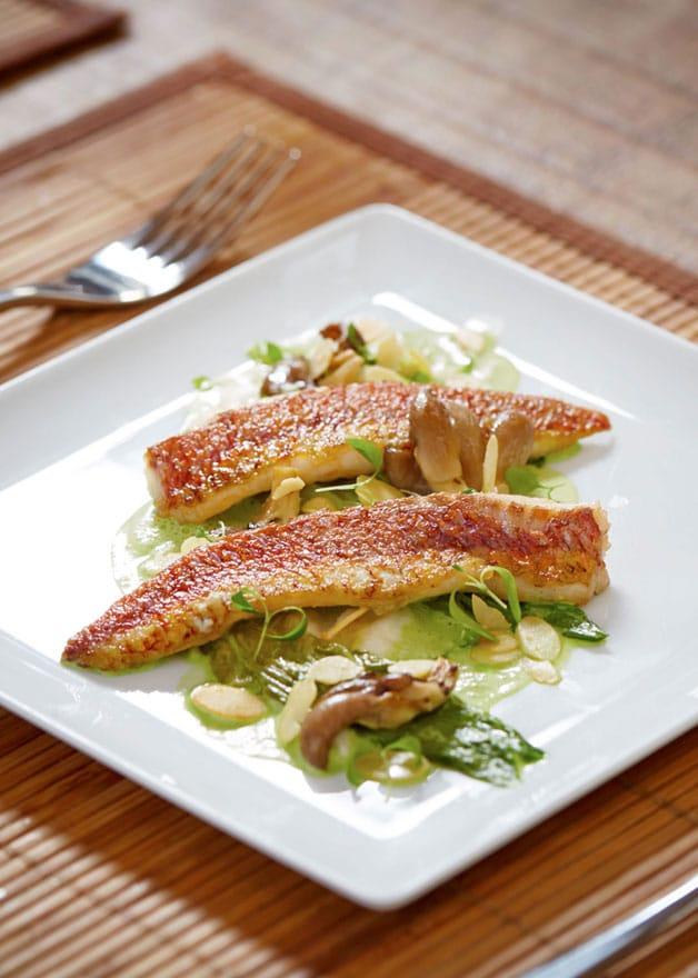 image of a fish starter dish