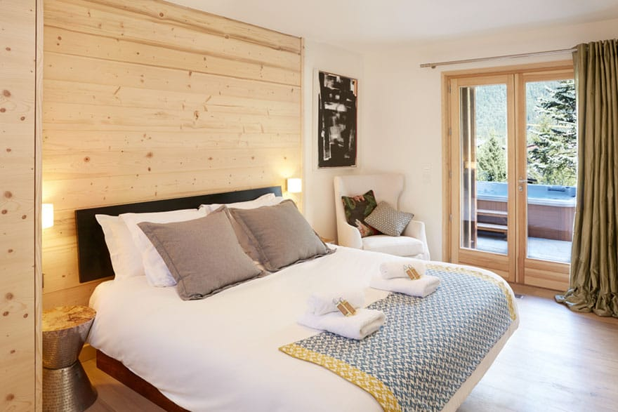 image of an example chalet master bedroom