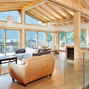 image of a chalet living room