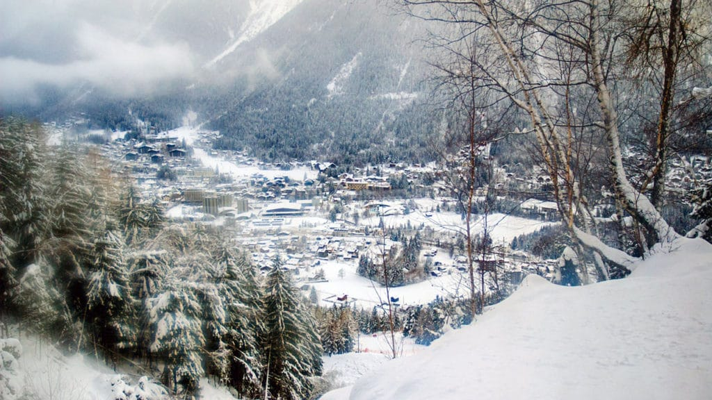image of snowy valley views