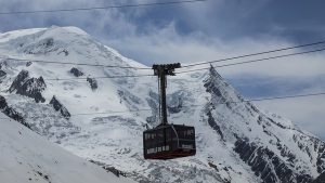 photo of a cable car in chamonix