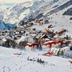 image of a ski town in France