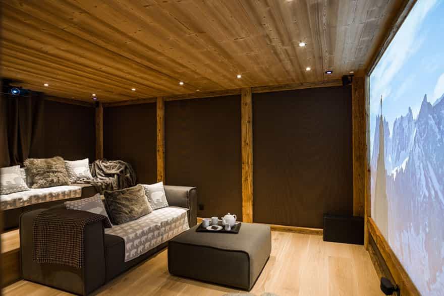 Chamonix ski chalet with indoor cinema