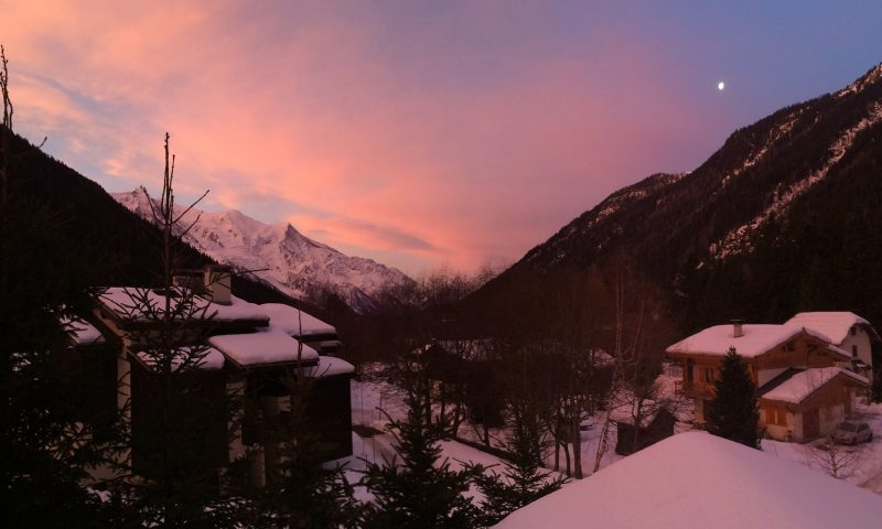 Chamonix Valley from Luxury Ski Chalet