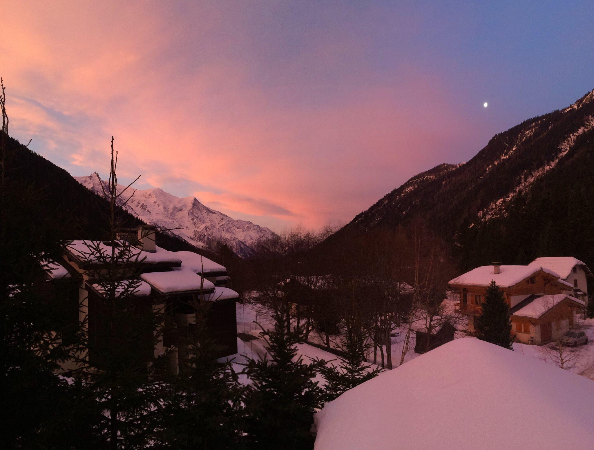 Chamonix Valley from Luxury Ski Chalet