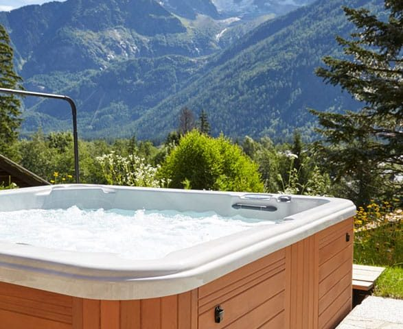 image of an outdoor hot tub