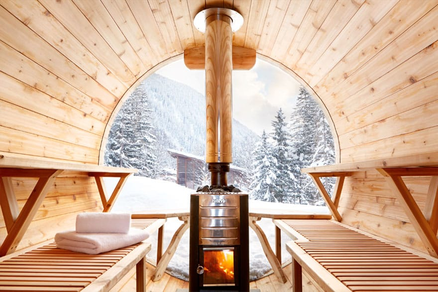 image of a wood fired sauna