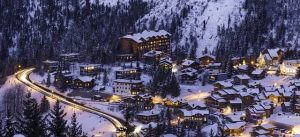image of french alp ski village