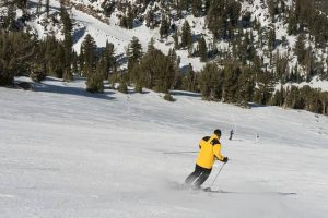 image of a man skiing