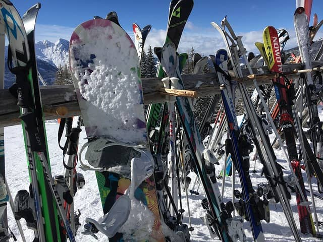 image of skis in chamonix