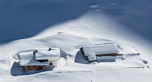image of houses under snow