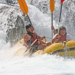 image of a white water raft