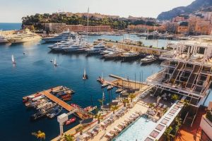 image of monaco bay in summer
