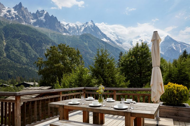 Alfresco dining with a view in Chamonix