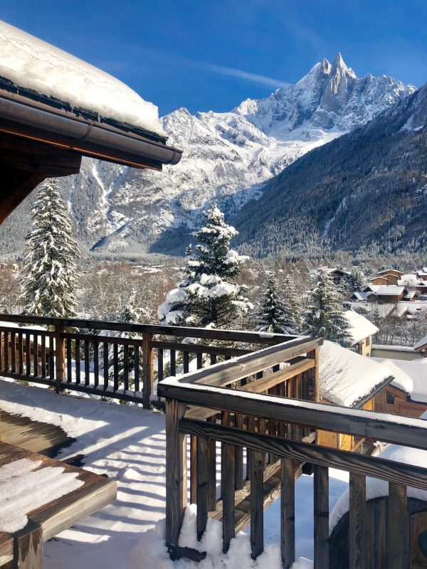 Mountain views from Chamonix chalet Marmotte Mountain Eco Lodge
