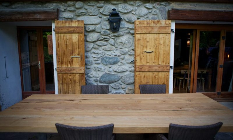 Outdoor dining table 3 - Rear Terrace